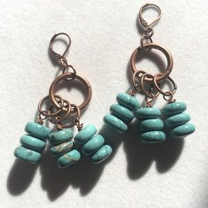 Copper & Turquoise earrings, Handmade & NWT